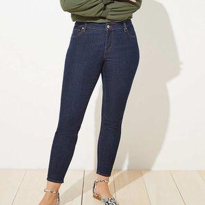 LOFT Plus Modern Skinny Jeans in Dark Rinse Wash